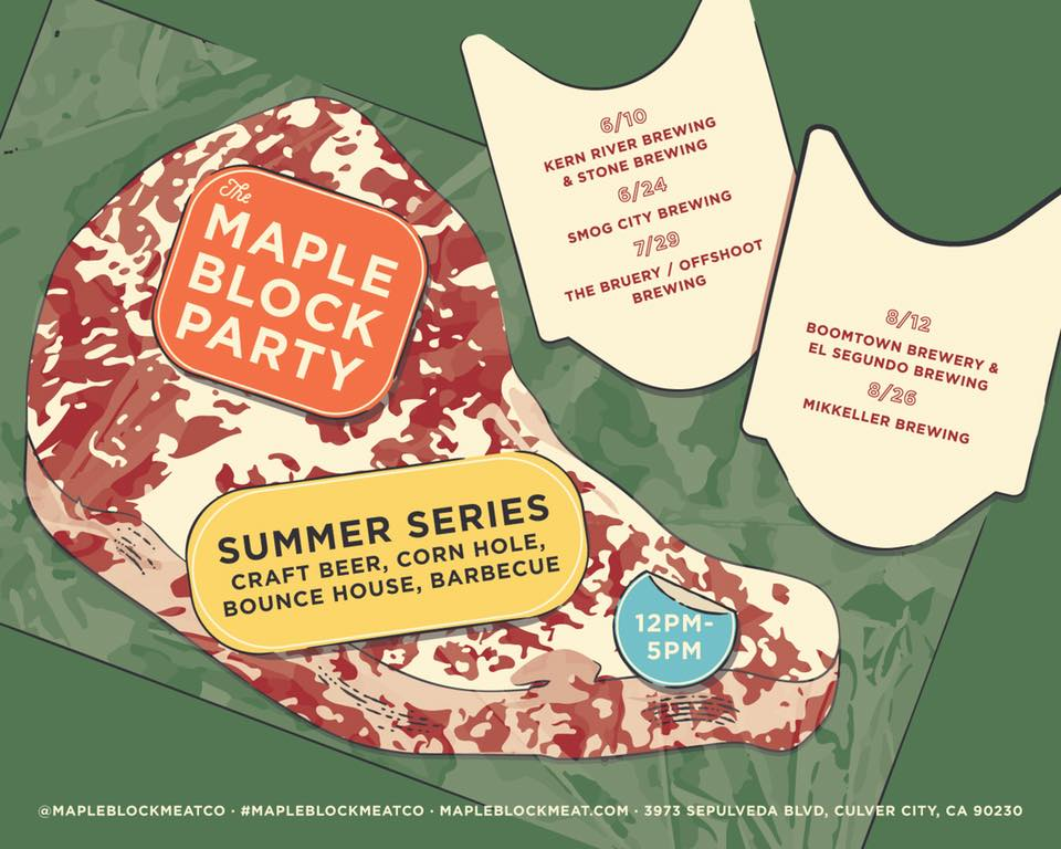Maple Block Meat Co. - SUMMER SERIES 2018