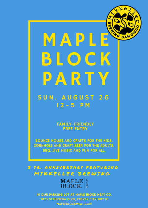 Maple Block Party_AUGUST 26_featuring Mikkeller Brewing